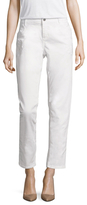 Maje Cotton Embroidered Cropped Pant