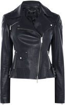 Karen Millen Slim Biker Jacket - Navy