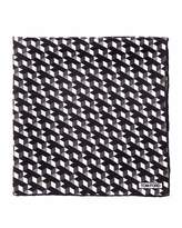 Tom Ford Geo-Print Silk Pocket Square, Black