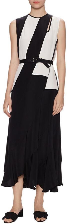 Derek Lam 10 Crosby Derek Lam Silk Asymmetric Maxi Dress