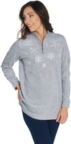 Factory Quacker Embroidered Half Zip Fleece Pullover