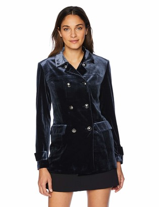 Jones New York Women's Velvet Peacoat