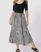 Sass Gingham Maxi Skirt