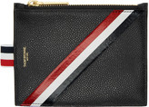 Thom Browne Black Small Diagonal Stripe Coin Purse