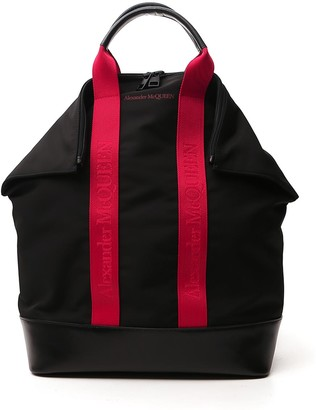 Alexander McQueen Logo Top Handle Backpack