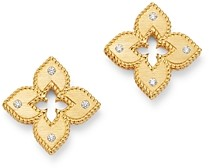 Roberto Coin 18K Yellow Gold Petite Venetian Diamond Stud Earrings
