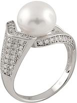 Bella Pearl Pearl & Cubic Zirconia Fancy Ring