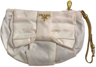 Prada White Synthetic Clutch bags