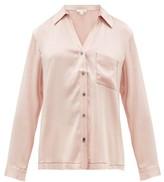 Skin - Teresa Silk-blend Satin Pyjama Shirt - Womens - Light Pink