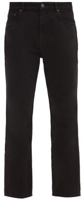 Balenciaga High-rise Cropped Straight-leg Jeans - Black