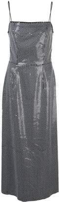 Markarian side-slit midi dress