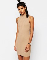 Asos Sleeveless Chunky Rib Bodycon Dress