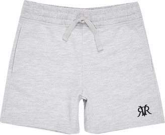 River Island Boys grey marl RVR shorts