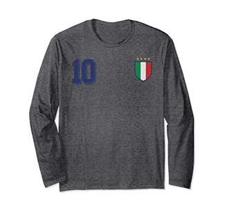 Italy Design in Football or Soccer Style for Italian Fans Long Sleeve T-Shirt