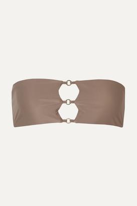 JADE SWIM Ace Embellished Bandeau Bikini Top - Taupe