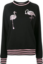 Giamba flamingo embroidery sweatshirt - women - Cotton/Polyester - 40