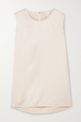 Max Mara Leisure Washed-satin Tank - Cream