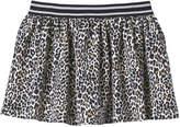 Joe Fresh Kid Girls' Leopard Print Knit Skirt, Cream (Size S)