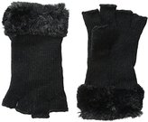 Rampage Women's Faux Fur-Trimmed Cut-Off Glove