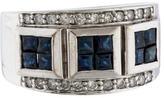 Ring Sapphire & Diamond Band