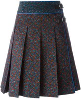 Coach floral print midi skirt - women - Silk/Leather/Polyester - 2