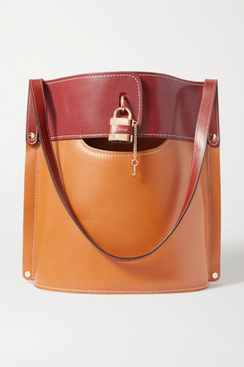 Chloé Aby Two-tone Leather Tote - Brown
