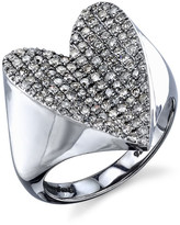 Pave Diamond Heart Ring, Size 7