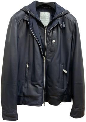 Brunello Cucinelli Navy Leather Jackets