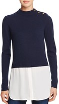 Aqua Cashmere Shirttail Sweater