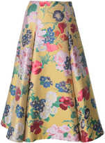 Valentino Yellow Romantic Garden Brocade Skirt