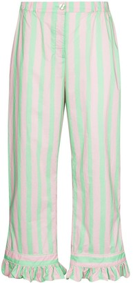 Helmstedt Striped Cropped Trousers