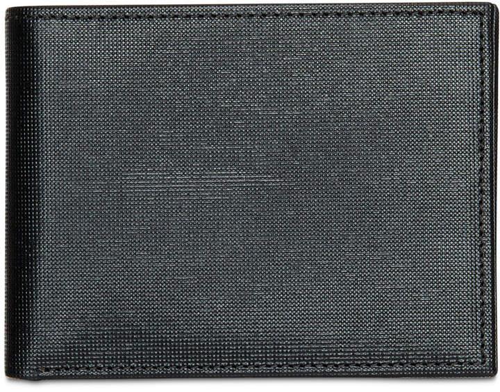Perry Ellis Men's Portfolio Saffiano RFID Bifold Wallet