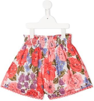 Zimmermann Kids Floral-Print Shorts