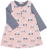 John Lewis Owl Cord Dress and T-Shirt Set, Pink