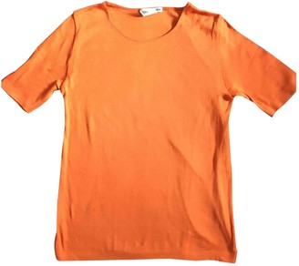 Issey Miyake Orange Cotton Tops