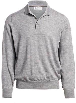 Brunello Cucinelli Wool & Cashmere Polo Sweater