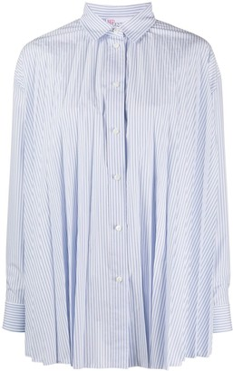 RED Valentino Striped Pleated Shirt