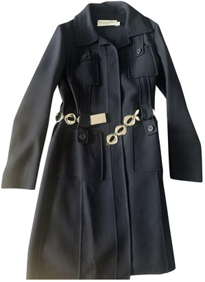 Christian Dior Navy Wool Coat for Women
