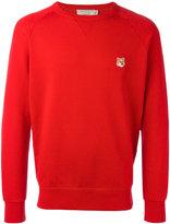 MAISON KITSUNÉ embroidered fox sweatshirt - men - Cotton - M