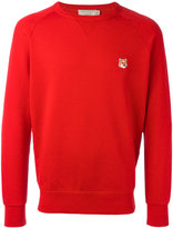 MAISON KITSUNÉ embroidered fox sweatshirt