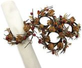 Autumn Pod Napkin Rings in Natural (Set of 4)