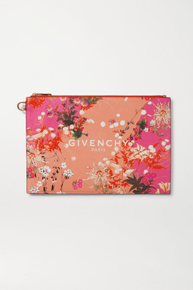 Givenchy Iconic Medium Floral-print Coated-canvas Pouch - Pink