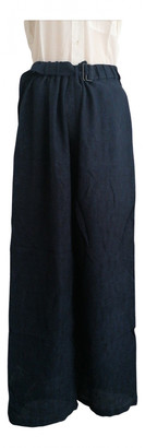 Lemaire Blue Silk Trousers