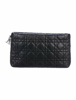Christian Dior Cannage Leather Clutch Black
