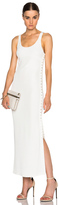 Calvin Klein Collection Fiana Structured Jersey Maxi Dress
