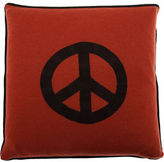 Peace Sign Pillow- Red