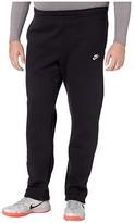 Nike Big Tall NSW Club Pants Open Hem (Black/Black/White) Men's Casual Pants