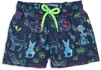 Vilebrequin Little Boy's & Boy'sVilebrequin x Florence Broadhurst Rabbits and Poodles Swim Trunks