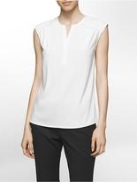 Calvin Klein Cap Sleeve V-Neck Blouse