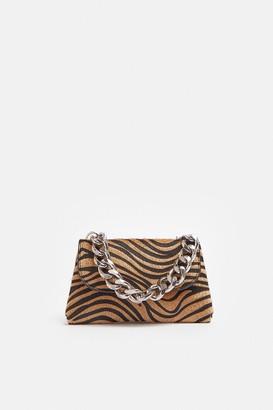 Coast Zebra Print Bag With Chunky Chain Strap